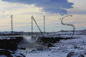 Selfoss, see what I mean about the delicacy when contrasted to the roar of Dettifoss?