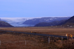This was the first glacier I saw, actually I saw it the night before, but didn't take a picture.